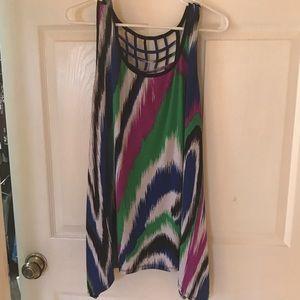 Sleeveless multi color tunic